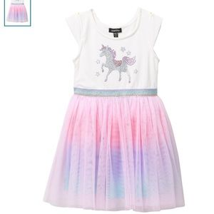 NWOT Zunie unicorn tulle dress